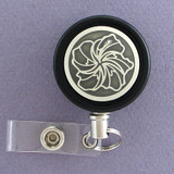 Elegant Hibiscus Flower Badge Reel for Florist