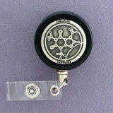 Caffeine Molecule Badge Reel for Scientist