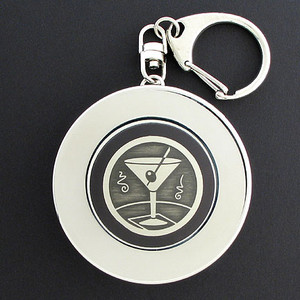 Martini Glass Collapsible Cup for Key Chains or Belt