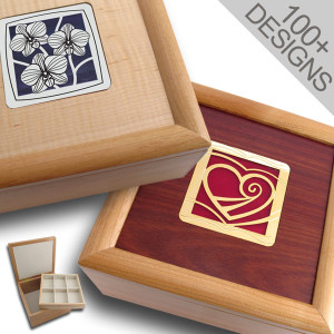 Stained Glass & Wood Storage Boxes
