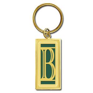 Monogram Letter B Keychain