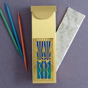 Art Deco Travel Toothpick Holder