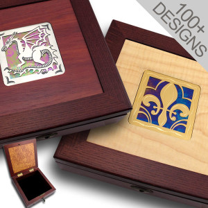 Unique Stained Glass Jewelry Boxes with Lock
