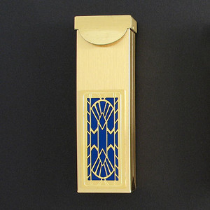Art Deco Fan Toothpick Holder Case