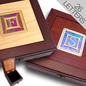 Custom Locking Jewelry Box with Monogram