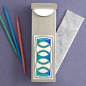 Baseball Toothpick Holder Case