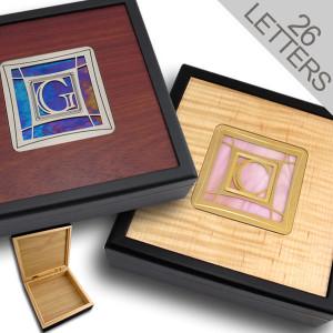 """7"""" Hinged Jewelry Box with Monogram"""