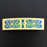 Large Gold Celtic Knot Hair Barrette