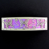 Pink and Purple Butterfly Hair Barrette