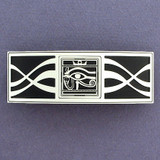 Egyptian Eye of Horus Hair Barrette - Black and Silver