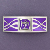 Purple Musical Notes Hair Barrette
