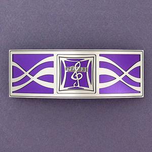 Purple Musical Notes Hair Barrette