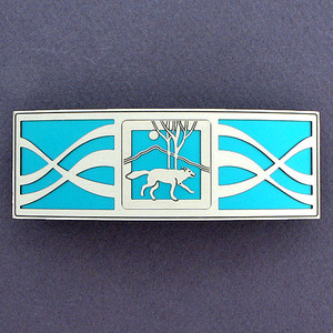 Turquoise Wolf Hair Barrette