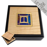 Monogrammed Wood & Stained Glass Storage Box