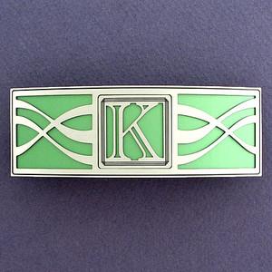 Monogram Letter K Hair Barrette