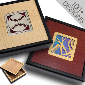 Personalized Storage Boxes - Wood & Stained Glass