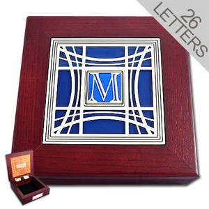 Monogrammed Wood Memory Boxes