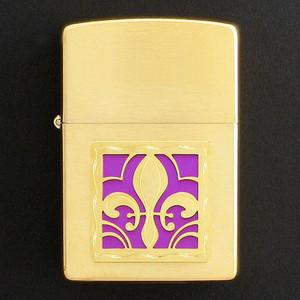 Gold Fleur de Lis Cigarette Lighter