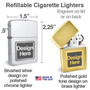 Customized refillable poker lighters
