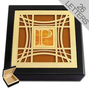 Wood Monogram Jewelry Box
