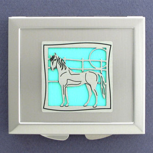 Horse Makeup Mirror Compact