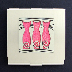 Cat Silhouette Compact Mirrors