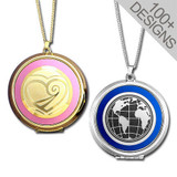 Large Colorful Photo Locket Necklaces - Choose Designs