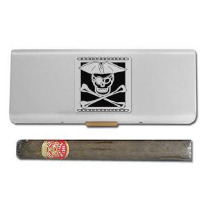 Pirate Skull & Crossbones Cigar Travel Cases