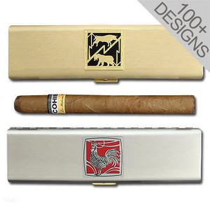 """Personalized 7"""" Cigar Travel Case"""
