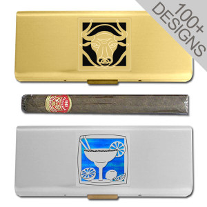 "Metal 5"" Travel Cigar Cases"