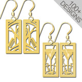 Small Unique Gold Earrings