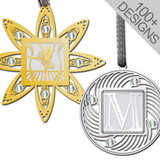April Birthstone Ornaments - Gold and Silver