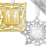 Gold and Silver June Birthstone Ornaments