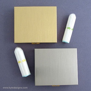 Sleek Travel Tampon Case for Non-Applicator Tampons