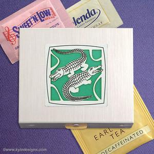 Crocodile Travel Tea Bag & Sweetener Cases