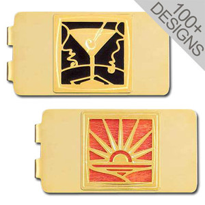 Gold Money Clips in 100s of Distinctive Designs