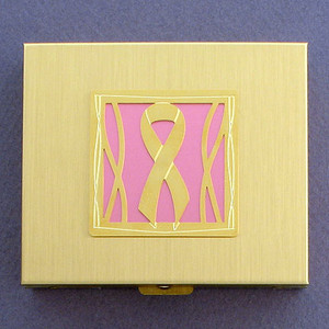 Pink Ribbon Large Pill Boxes
