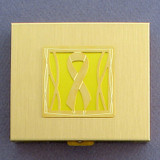 Yellow Ribbon Large Pill Box