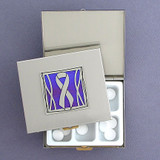 Purple Ribbon Large Pill Boxes for Alzheimer's Disease