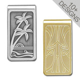 Cool Two Tone Money Clip in Gold or Silver