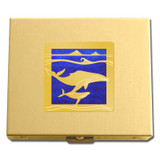 Gold Whale Travel Pill Box