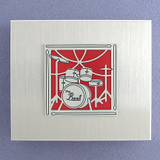 Drummer Large Keepsake Pillbox