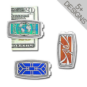 Custom Oval Silver Money Clips
