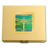 Gold Dragonfly Pill Box