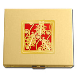 Gold & Red Ladybug Travel Pill Box