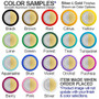 Round double mirror compact colors around designs