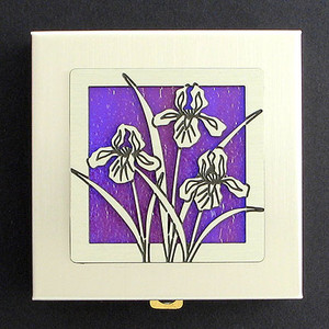Iris Flowers Vitamin Case
