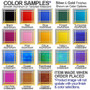 Metal credit card wallet colors behind designs
