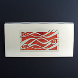 Ribbons Metal Checkbook Cover