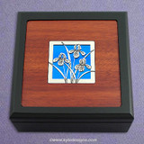 Iris Flowers Small Decorative Wood Box